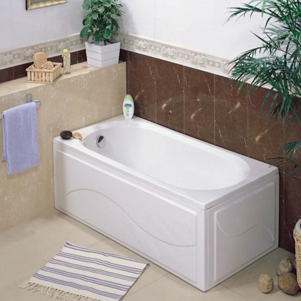 Вид акриловой ванны 160 100 см