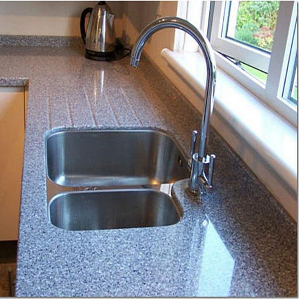 Фото угловой акриловой столешницы для кухни