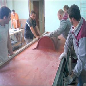 Процесс термоформинга акрилового камня