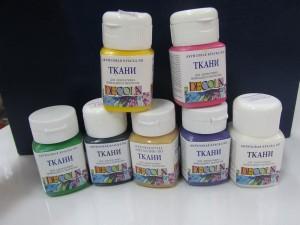 Акриловые краски для ткани декола